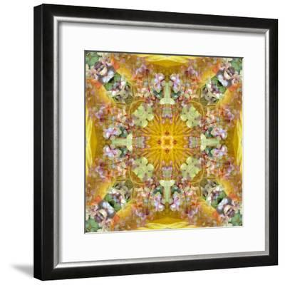 A Floral Montage with Leafes-Alaya Gadeh-Framed Photographic Print