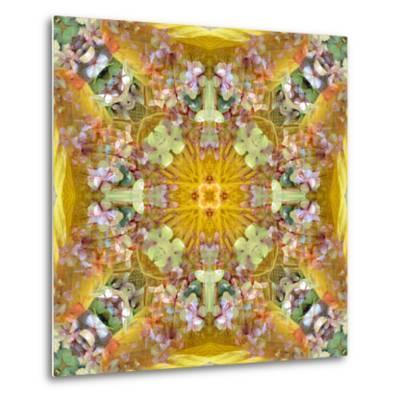A Floral Montage with Leafes-Alaya Gadeh-Metal Print