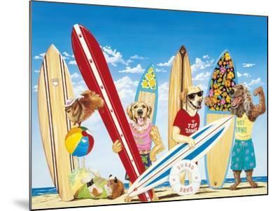 K-9 Surf Club-Scott Westmoreland-Mounted Art Print