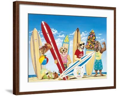 K-9 Surf Club-Scott Westmoreland-Framed Art Print