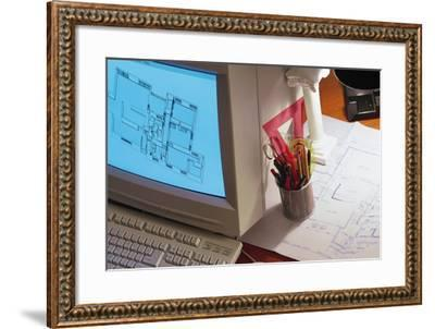 Computer Aided Design-Comstock-Framed Photographic Print