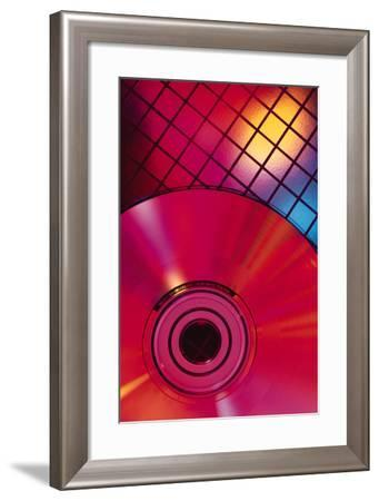 Compact Disc on Grid-Comstock-Framed Photographic Print