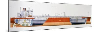 Isomeria Oil Tanker, 1982, United Kingdom, Cutaway Drawing-De Agostini Picture Library-Mounted Photographic Print