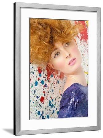 Young Woman with Bouffant-Image Source-Framed Photographic Print