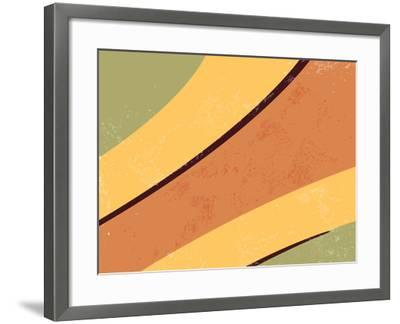 70S Retro Background-one AND only-Framed Photographic Print