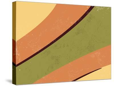 70S Retro Background-one AND only-Stretched Canvas Print
