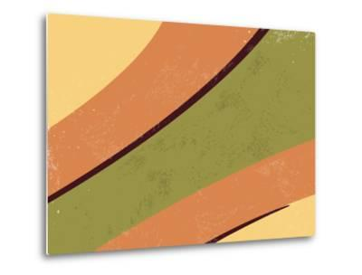 70S Retro Background-one AND only-Metal Print