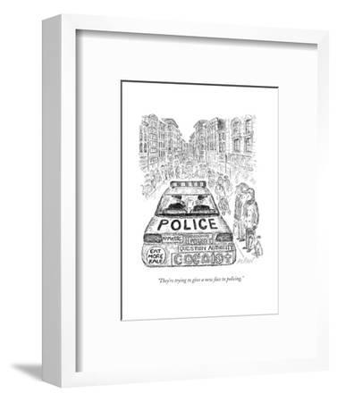 """""""They're trying to give a new face to policing."""" - New Yorker Cartoon-Edward Koren-Framed Premium Giclee Print"""