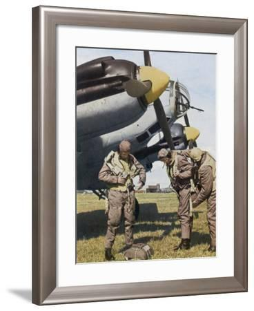 German Aircrew Prepare for a Mission--Framed Photographic Print