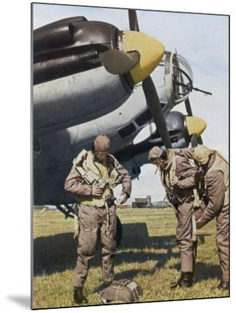 German Aircrew Prepare for a Mission--Mounted Photographic Print