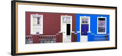 Awesome South Africa Collection Panoramic - Colorful Houses Brown & Navy Blue-Philippe Hugonnard-Framed Photographic Print