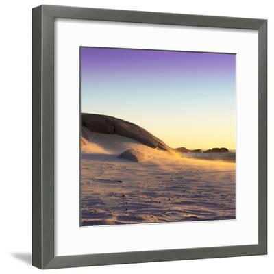 Awesome South Africa Collection Square - Sand Dune at Sunset II-Philippe Hugonnard-Framed Photographic Print
