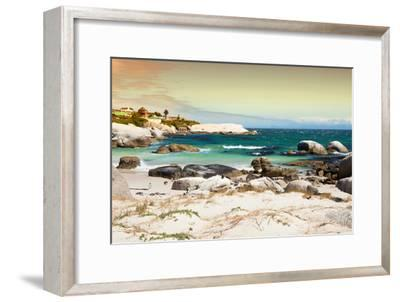 Awesome South Africa Collection - Boulders Beach at Sunset - Cape Town I-Philippe Hugonnard-Framed Photographic Print
