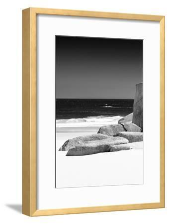 Awesome South Africa Collection B&W - Tranquil White Sand Beach II-Philippe Hugonnard-Framed Photographic Print