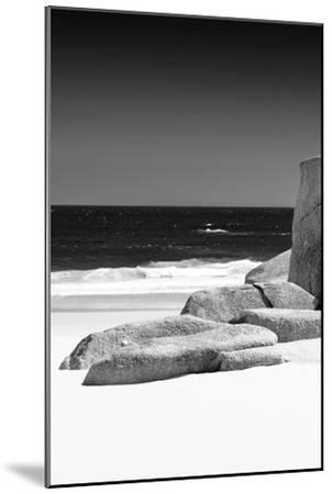 Awesome South Africa Collection B&W - Tranquil White Sand Beach II-Philippe Hugonnard-Mounted Photographic Print