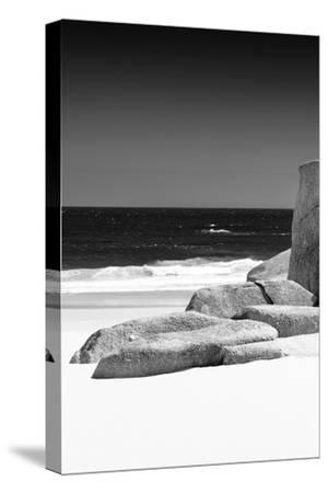 Awesome South Africa Collection B&W - Tranquil White Sand Beach II-Philippe Hugonnard-Stretched Canvas Print