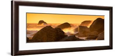 Awesome South Africa Collection Panoramic - Power of the Ocean at Sunset IV-Philippe Hugonnard-Framed Photographic Print