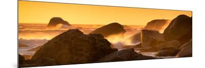Awesome South Africa Collection Panoramic - Power of the Ocean at Sunset IV-Philippe Hugonnard-Mounted Photographic Print