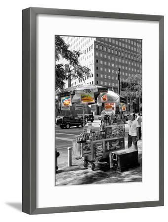 Safari CityPop Collection - NYC Hot Dog with Zebra Man-Philippe Hugonnard-Framed Photographic Print