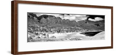 Awesome South Africa Collection Panoramic - Camps Bay Cape Town B&W-Philippe Hugonnard-Framed Photographic Print