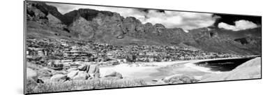 Awesome South Africa Collection Panoramic - Camps Bay Cape Town B&W-Philippe Hugonnard-Mounted Photographic Print