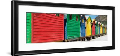 Awesome South Africa Collection Panoramic - Colorful Beach Huts-Philippe Hugonnard-Framed Photographic Print