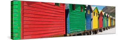 Awesome South Africa Collection Panoramic - Colorful Beach Huts-Philippe Hugonnard-Stretched Canvas Print