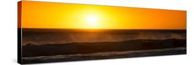 Awesome South Africa Collection Panoramic - Ocean at Sunset-Philippe Hugonnard-Stretched Canvas Print