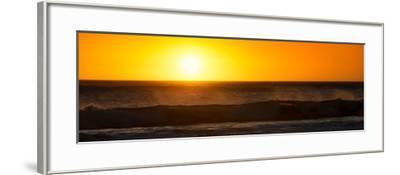 Awesome South Africa Collection Panoramic - Ocean at Sunset-Philippe Hugonnard-Framed Photographic Print