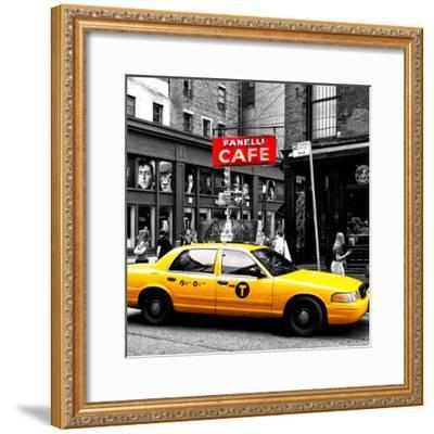 Safari CityPop Collection - New York Yellow Cab in Soho IV-Philippe Hugonnard-Framed Photographic Print