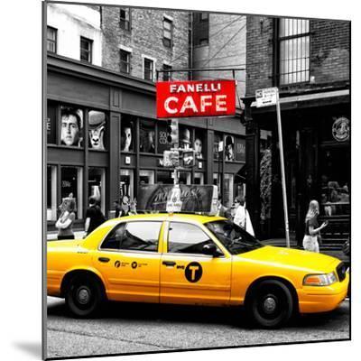 Safari CityPop Collection - New York Yellow Cab in Soho IV-Philippe Hugonnard-Mounted Photographic Print