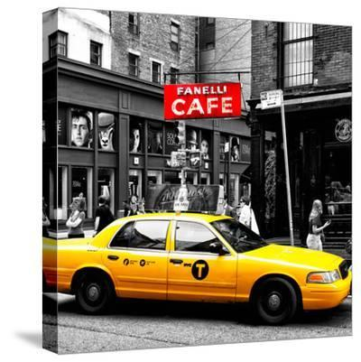 Safari CityPop Collection - New York Yellow Cab in Soho IV-Philippe Hugonnard-Stretched Canvas Print