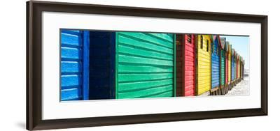 Awesome South Africa Collection Panoramic - Muizenberg Beach Huts V-Philippe Hugonnard-Framed Photographic Print