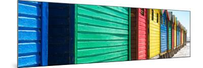 Awesome South Africa Collection Panoramic - Muizenberg Beach Huts V-Philippe Hugonnard-Mounted Photographic Print
