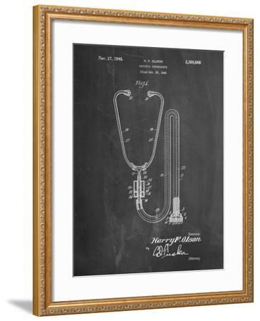 Stethoscope Patent-Cole Borders-Framed Art Print