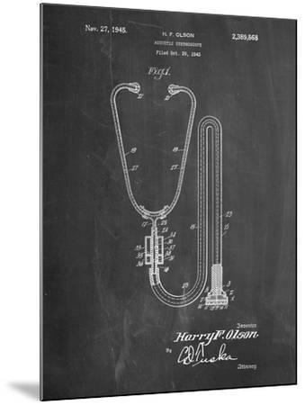Stethoscope Patent-Cole Borders-Mounted Art Print