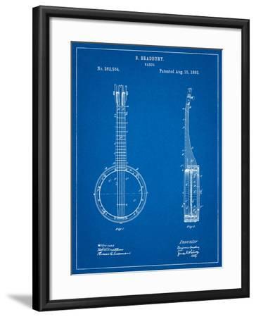 Banjo Mandolin Patent-Cole Borders-Framed Art Print