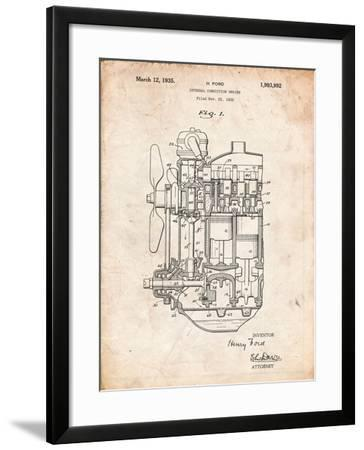 Ford Internal Combustion Engine Patent-Cole Borders-Framed Art Print