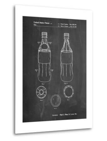 Coke Bottle Display Cooler Patent-Cole Borders-Metal Print