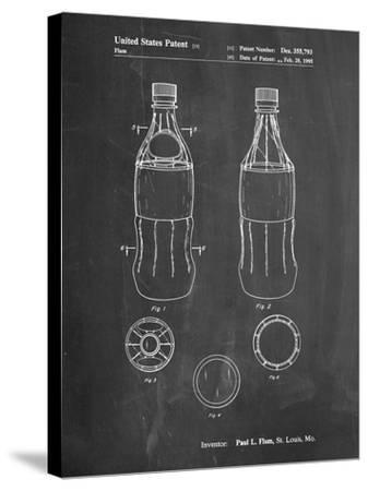 Coke Bottle Display Cooler Patent-Cole Borders-Stretched Canvas Print