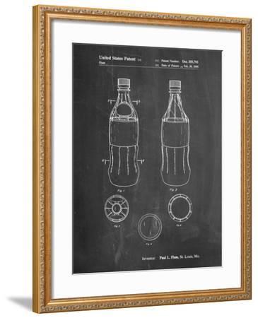 Coke Bottle Display Cooler Patent-Cole Borders-Framed Art Print
