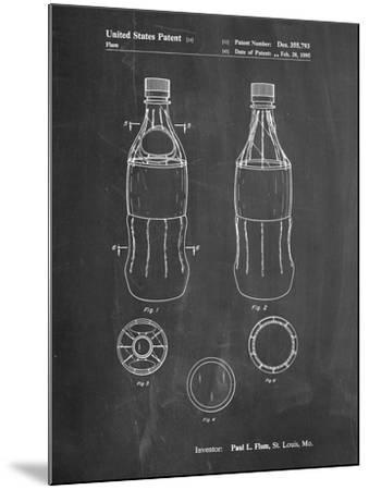 Coke Bottle Display Cooler Patent-Cole Borders-Mounted Art Print