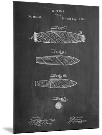 Cigar Tobacco Patent-Cole Borders-Mounted Art Print