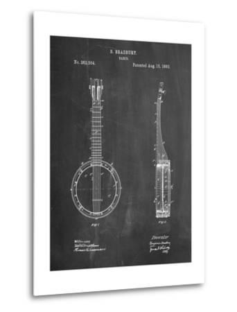 Banjo Mandolin Patent-Cole Borders-Metal Print