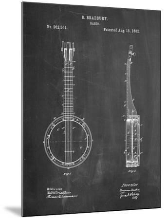 Banjo Mandolin Patent-Cole Borders-Mounted Art Print