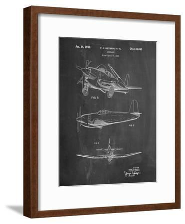 Contra Propeller Low Wing Airplane Patent-Cole Borders-Framed Art Print