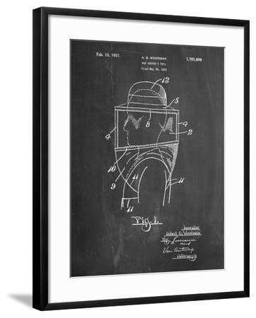 Bee Keeper Hat and Veil Patent-Cole Borders-Framed Art Print