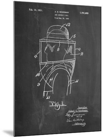 Bee Keeper Hat and Veil Patent-Cole Borders-Mounted Art Print