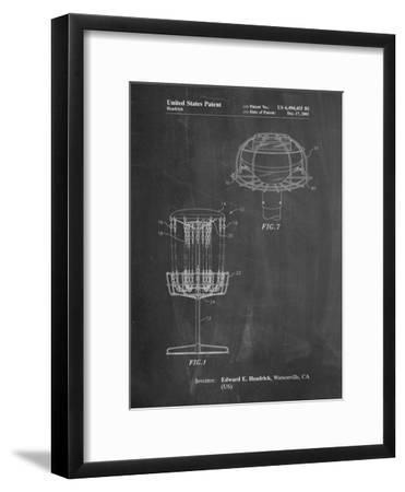Disc Golf Basket Patent-Cole Borders-Framed Art Print