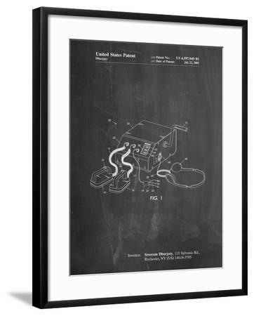 Defibrillator Patent-Cole Borders-Framed Art Print